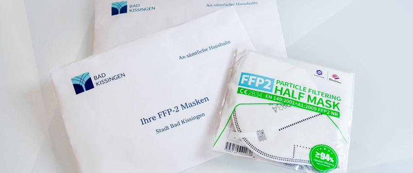 Premiere - Unadressierte Distribution von FFP2-Masken