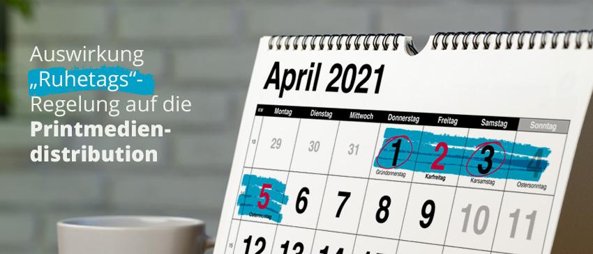 Auswirkungen Ruhetagsreglung Ostern 2021 auf Werbesendungen