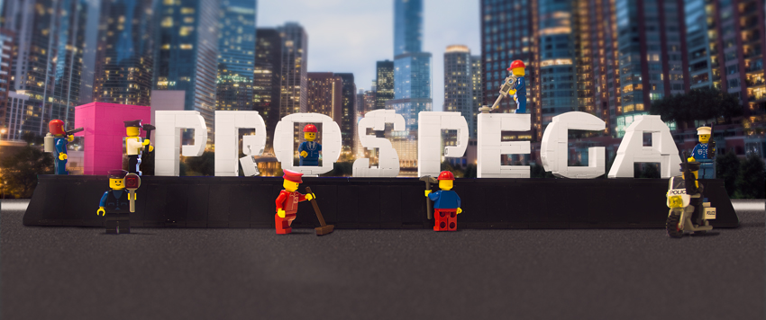 prospega Logo MOC - Corporate Design mit Legosteinen