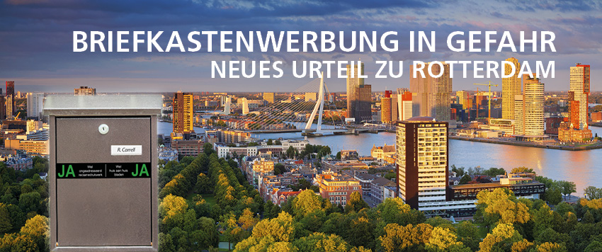 Ab dem 1.November 2020 gilt der Ja-Ja Sticker in Rotterdam