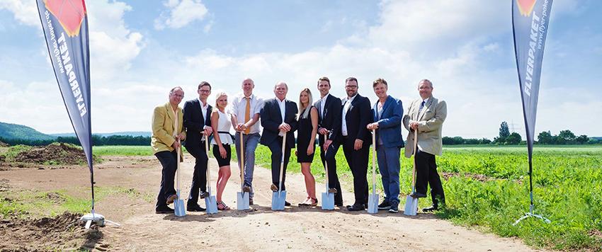 Spatenstich für neuen Logistik-Hub für Franken und Thüringen in Knetzgau