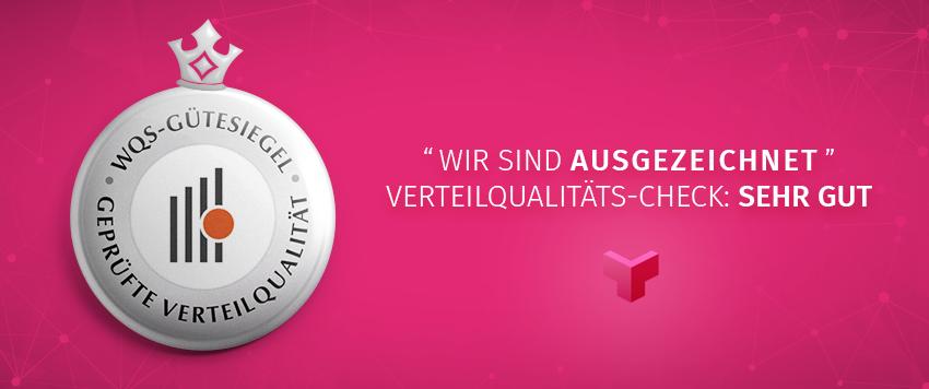 """WQS-Zustellmessung 2019 mit dem Ergebnis """"sehr gut"""""""