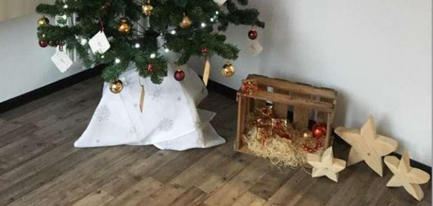 Unser Weihnachtsbaum in Nüdlingen erstrahlt