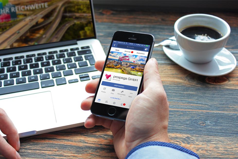 Facebook vs. Webseite - prospega Fachartikel Medien