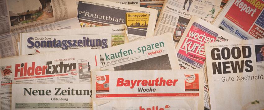 Anzeigenblätter und Wochenblätter die nicht mehr erscheinen