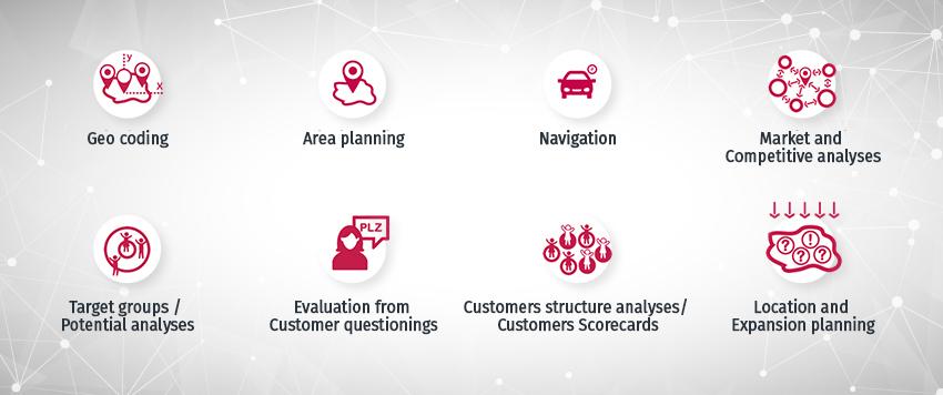 Geoservices der prospega - Geostrategische Planungen von Expansion, über Werbung bis hin zum Vertrieb