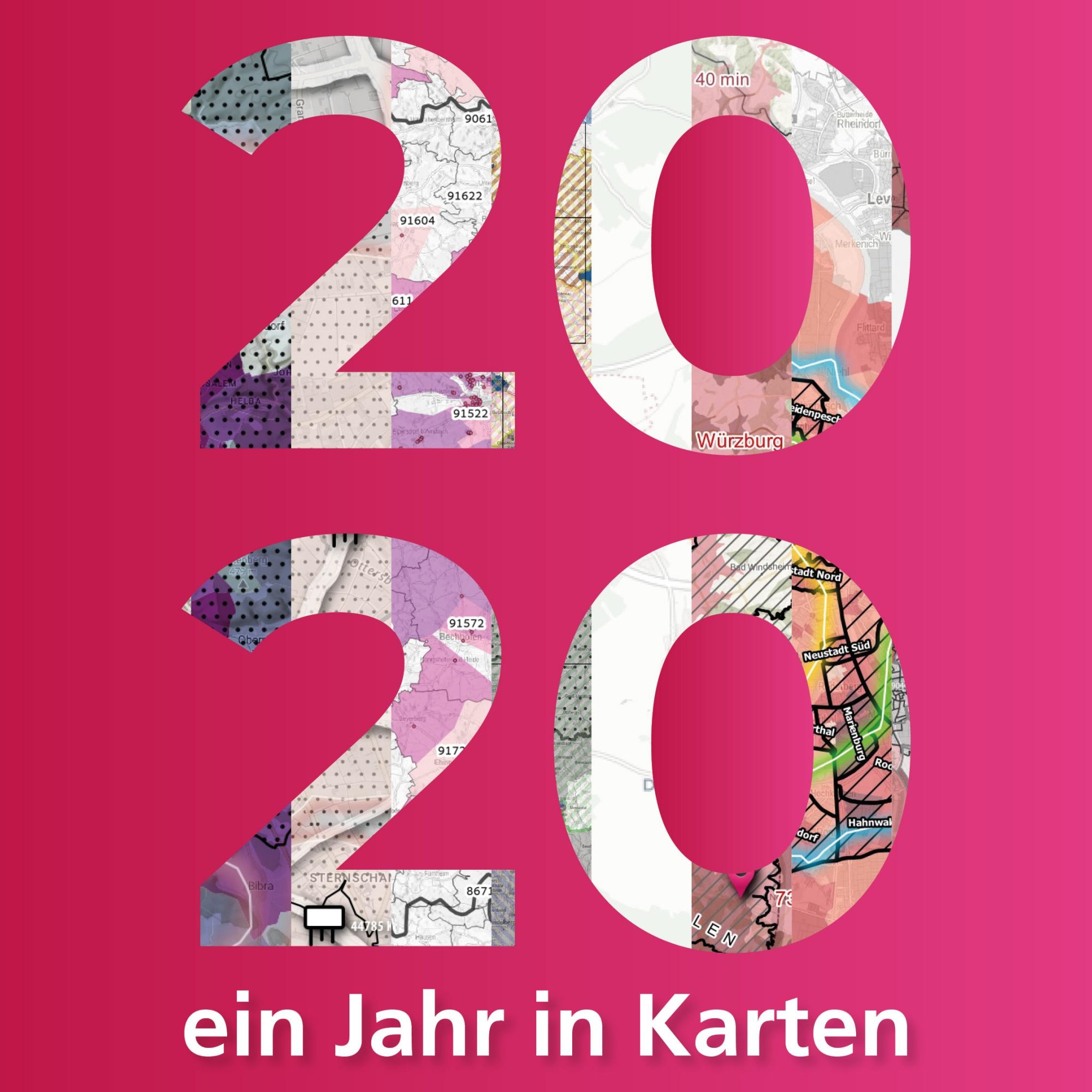 2020 - Ein Jahr in Karten. Rückblick aus der prospega Geomarketingabteilung.